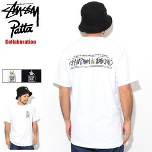 ステューシー Tシャツ 半袖 STUSSY メンズ Patta Champion Sound コラボ...