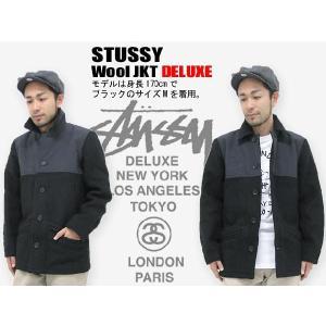 ステューシー STUSSY Wool ジャケット デラックス(stussy jkt deluxe ジャケット メンズ 男性用 4015004) icefield
