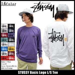 ステューシー STUSSY Tシャツ 長袖 メンズ Basic Logo(stussy tee T-SHIRTS トップス ベーシックロゴ 1993339 1993414 1993493 1993635)|icefield