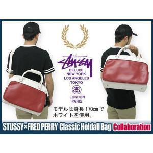 ステューシー STUSSY×FRED PERRY Classic Holdall バッグ コラボ デラックス(stussy×fred perry フレッドペリー Wネーム バッグ メンズ SL7057 DELUXE)|icefield