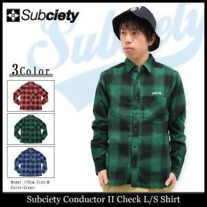サブサエティ Subciety シャツ 長袖 メンズ コンダクター 2 チェック(subciety Conductor II Check L/S Shirt トップス)|icefield