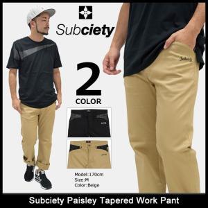 サブサエティ Subciety パンツ メンズ ペイズリー テーパード ワークパンツ(subciety Paisley Tapered Work Pant ボトムス)|icefield