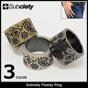 サブサエティ Subciety リング ペイズリー(subciety Paisley Ring 指輪 メンズジュエリー アクセサリー)|icefield