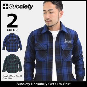 サブサエティ Subciety シャツ 長袖 メンズ ロカビリー CPO(subciety Rockabilly CPO L/S Shirt ネルシャツ トップス 103-20122)|icefield