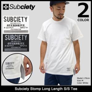 サブサエティ Subciety Tシャツ 半袖 メンズ ストンプ ロング レングス(subciety Stomp Long Length S/S Tee カットソー トップス)|icefield