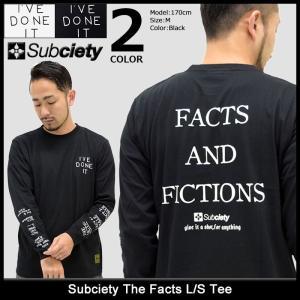 サブサエティ Subciety Tシャツ 長袖 メンズ ザ ファクツ(subciety The Facts L/S Tee ロンt カットソー トップス)|icefield
