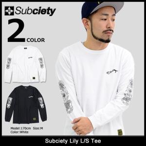 サブサエティ Subciety Tシャツ 長袖 メンズ リリー(subciety Lily L/S Tee ロンt カットソー トップス)|icefield