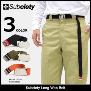 サブサエティ Subciety ベルト メンズ ロング ウェブ(SUBCIETY Long Web Belt ガチャベルト アクセサリー)|icefield