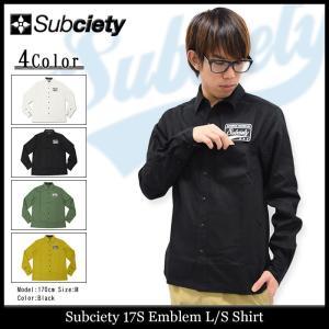サブサエティ Subciety シャツ 長袖 メンズ 17S エンブレム(subciety 17S Emblem L/S Shirt カジュアルシャツ トップス)|icefield