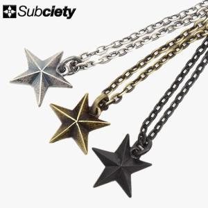 サブサエティ Subciety ネックレス メンズ ガイダンス メタル(subciety Guidance Metal Necklace アクセサリー 104-94246)|icefield