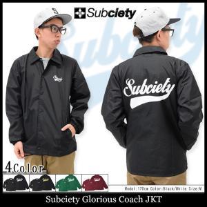 サブサエティ Subciety ジャケット メンズ グロリアス コーチジャケット(subciety Glorious Coach JKT アウター ブルゾン)|icefield