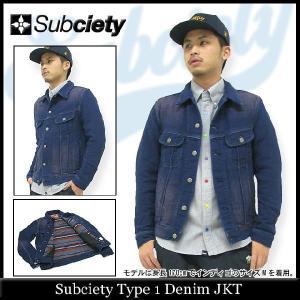 サブサエティ Subciety ジャケット タイプ 1 デニム jacket(subciety Type 1 Denim Jaket)|icefield