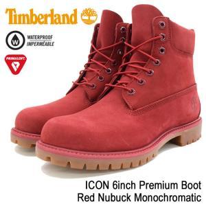 ティンバーランド Timberland ブーツ メンズ 男性用 アイコン 6インチ プレミアム Red Nubuck Monochromatic(A1149 ICON 6inch Boot 防水)|icefield