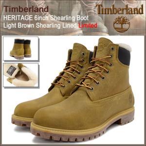ティンバーランド Timberland ブーツ メンズ ヘリテイジ 6インチ シャーリング ライトブラウン シャーリング ラインド(A1157 6inch Boot)