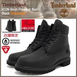 ティンバーランド Timberland ブーツ メンズ 男性用 アイコン 6インチ プレミアム ブラック チェックメイト(A17ZL ICON 6inch Premium Boot)|icefield