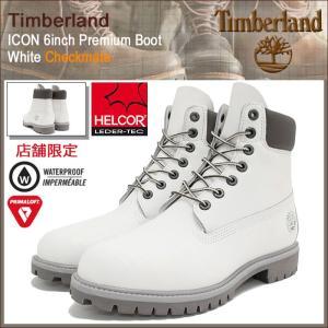 ティンバーランド Timberland ブーツ メンズ 男性用 アイコン 6インチ プレミアム ホワイト チェックメイト(A17ZW ICON 6inch Premium Boot)|icefield