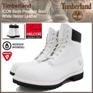 ティンバーランド Timberland ブーツ メンズ 男性用 アイコン 6インチ プレミアム ホワイト ヘルコア レザー(A1GUY 6inch Boot White 防水)|icefield