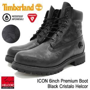 ティンバーランド Timberland ブーツ メンズ 男性用 アイコン 6インチ プレミアム Black Cristalo Helcor(A1JD9 ICON 6inch Premium Boot)|icefield