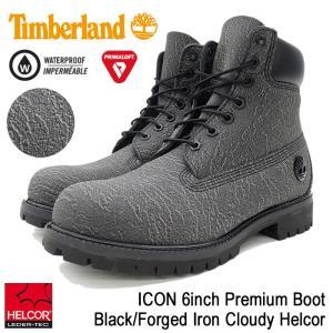 ティンバーランド Timberland ブーツ メンズ 男性用 アイコン 6インチ プレミアム Black/Forged Iron Cloudy Helcor(A1JDC ICON 6inch Boot)|icefield
