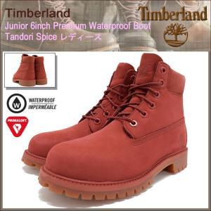 ティンバーランド Timberland ブーツ レディース対応サイズ ジュニア 6インチ プレミアム ウォータープルーフ Tandori Spice(A1KPH)|icefield