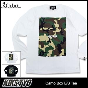 キックス ティー・ワイ・オー KIKS TYO Tシャツ 長袖 メンズ カモ ボックス(KiksTyo Camo Box L/S Tee カットソー トップス)|icefield
