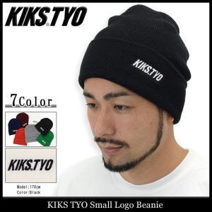キックス ティー・ワイ・オー KIKS TYO ニット帽 メンズ スモール ロゴ ビーニー(Small Logo Beanie ニットキャップ 帽子)|icefield