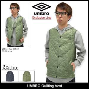 アンブロ UMBRO ジャケット メンズ キルティング ベスト(umbro UCA4690AYV Quilting Vest Exclusive Line アウター ブルゾン 男性用)|icefield