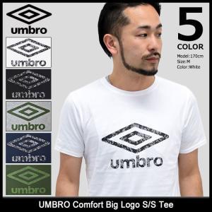 アンブロ UMBRO Tシャツ 半袖 メンズ コンフォート ビッグ ロゴ(UCS5750 Comfort Big Logo S/S Tee カットソー トップス 男性用)|icefield