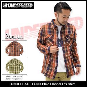 アンディフィーテッド UNDEFEATED シャツ 長袖 メンズ UND プレイド フランネル(UND Plaid Flannel L/S Shirt トップス 男性用 511078)|icefield