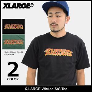 エクストララージ X-LARGE Tシャツ 半袖 メンズ ウィケッド(x-large Wicked S/S Tee カットソー トップス M17C1109) icefield