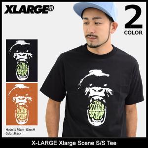エクストララージ X-LARGE Tシャツ 半袖 メンズ エクストララージ シーン(Xlarge Scene S/S Tee カットソー トップス M17C1133) icefield