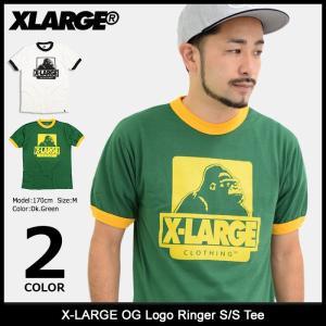 エクストララージ X-LARGE Tシャツ 半袖 メンズ OG ロゴ リンガー(x-large OG Logo Ringer S/S Tee カットソー トップス M17C1303) icefield
