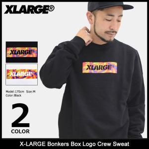 エクストララージ X-LARGE トレーナー メンズ ボンカーズ ボックス ロゴ クルー スウェット(Bonkers Box Logo Crew Sweat M17C2202) icefield
