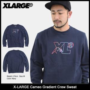 エクストララージ X-LARGE トレーナー メンズ カメオ グラディエント クルー スウェット(Cameo Gradient Crew Sweat トップス M17D2202) icefield