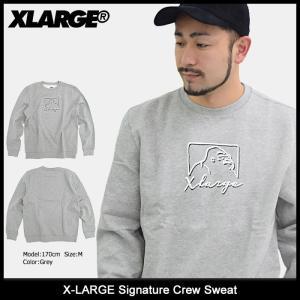 エクストララージ X-LARGE トレーナー メンズ シグネチャー クルー スウェット(x-large Signature Crew Sweat トップス M17D2204) icefield