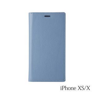 iPhoneXS/X ケース Bellezza Calma (ベレッツァカルマ)Leather CASE  レザーケース Blue(ブルー)|iceselection