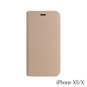 iPhoneXS/X  ケース Bellezza Calma (ベレッツァカルマ)手帳型ケース Beige(ベージュ)|iceselection