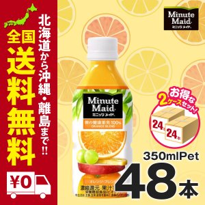 ミニッツメイドオレンジブレンド 350mlPET 48本 まとめ買いでお得セット iceselection