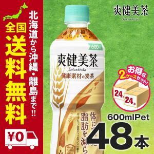 爽健美茶 健康素材の麦茶 PET 600ML 48本まとめ買いでさらにお得セット|iceselection