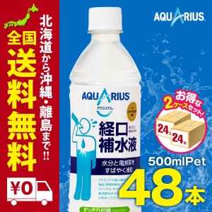 アクエリアス経口補水液 500mlPET 48本セットまとめ買いでさらにお得セット|iceselection
