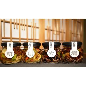 ナッツ・ドライフルーツの蜂蜜漬 峠プレミアム4種セット はちみつ漬け  網代箱  熊野古道 生蜂蜜 ハニーナッツ ハチミツ プレゼント ギフト SW-NDH-TP4|iceselection
