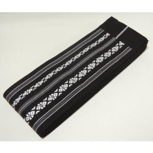 角帯 綿 黒色 献上柄 お求めやすい価格にしました 男着物用和装小物 日本製|ichi529