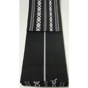 角帯 綿 黒色 献上柄 お求めやすい価格にしました 男着物用和装小物 日本製|ichi529|02