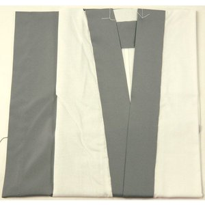 男着物用半襦袢 グレー 半衿付 M/L 身頃は晒で快適 男物和装小物