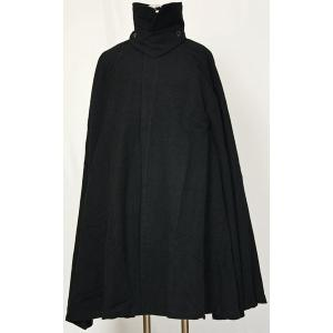 紳士マント 黒色綿生地 着物、作務衣用 和洋兼用 カジュアルメンズアウター|ichi529
