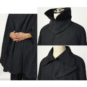 紳士マント 黒色綿生地 着物、作務衣用 和洋兼用 カジュアルメンズアウター|ichi529|03