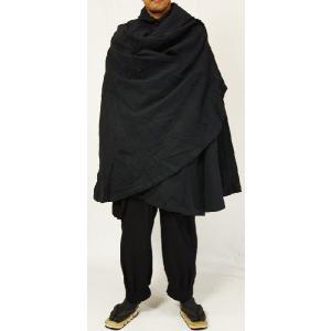 紳士マント 黒色綿生地 着物、作務衣用 和洋兼用 カジュアルメンズアウター|ichi529|04