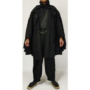 紳士マント 黒色綿生地 着物、作務衣用 和洋兼用 カジュアルメンズアウター|ichi529|05