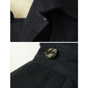 紳士マント 黒色綿生地 着物、作務衣用 和洋兼用 カジュアルメンズアウター|ichi529|06