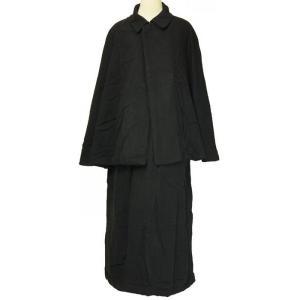 紳士とんびマント 黒色綿生地 着物、作務衣用 和洋兼用 カジ...
